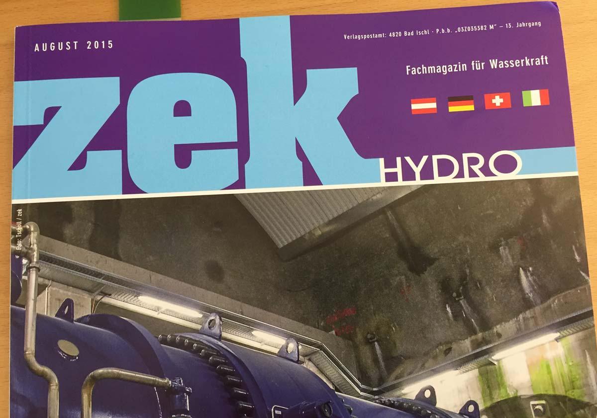 Das internationale Fachmagazin ZEK berichtet über das Kraftwerk Bristen.