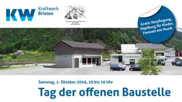 Tag der offenen Baustelle Neubau Kraftwerk Bristen